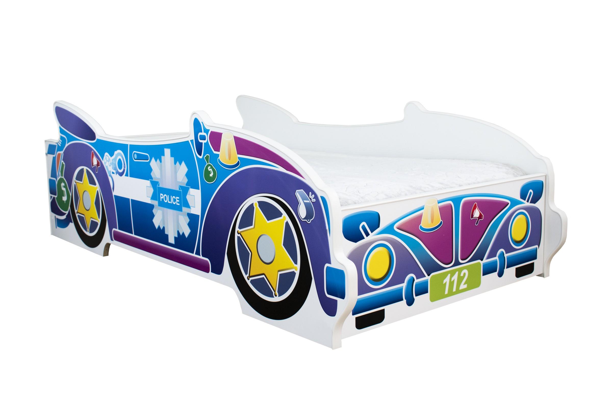 Peuterbed Top Beds Cabriolet 140x70 Politie Inclusief Matras