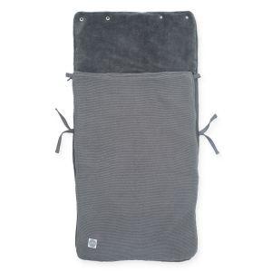 Voetenzak Autostoel Jollein Basic Knit Stone Grey