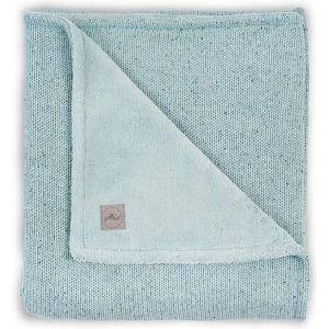 Deken Wieg Jollein 75x100 Confetti Knit Stone Green/Coral Fleece