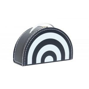 Koffertje O'tje Kadootje Regenboog Zwart/wit OK7000