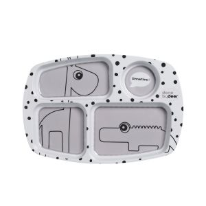 Bord Done by Deer | Compartment Happy Dots Grey