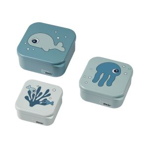Snack Box Done By Deer Sea Friends Blue 3st.