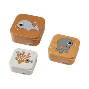 Snack Box Done By Deer Sea Friends Mustard/Grey 3st.