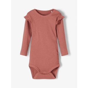 Romper Name-it NACMA21 Ruches Rib Withered Rose