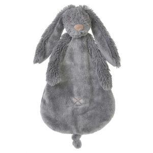 Rabbit Richie Deep Grey Knuffeldoekje | Happy Horse