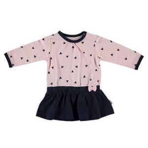 Dress Bess Long Sleeves Hearts Pink