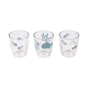 Beker Done By Deer Yummy Mini Glass Blue 3st.