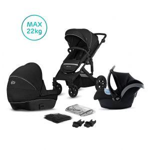 Kinderwagen Kinderkraft Prime Lite 3-in-1 (incl. Autostoel) Black