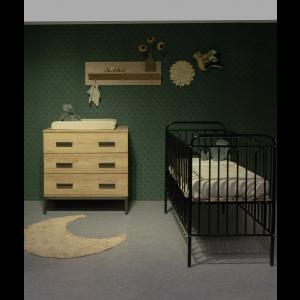 Babykamer Floris (met Ledikant Vintage Metaal Zwart)
