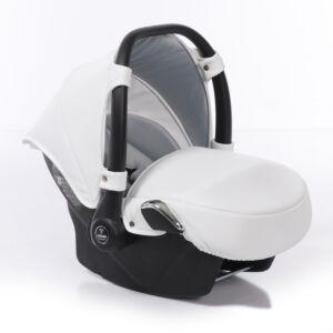 Autostoel Junama White/Silver Inclusief Adapterset