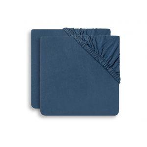Hoeslaken Ledikant Jollein 60x120 Jersey Jeans Blue 2-pack