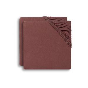 Hoeslaken Ledikant Jollein 60x120 Jersey Chestnut 2-pack