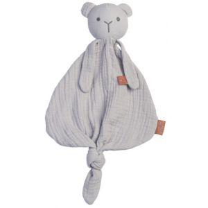 Knuffeldoek BamBam Bear 51556 Organic Grey