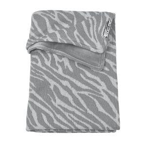 Deken Ledikant Meyco Velvet Zebra 2754044 Grijs