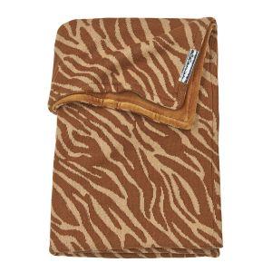 Deken Ledikant Meyco Velvet Zebra 2754045 Camel
