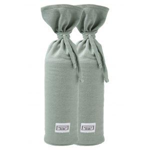 Kruikenzak Meyco Basic Jersey Stone Green 2-pack