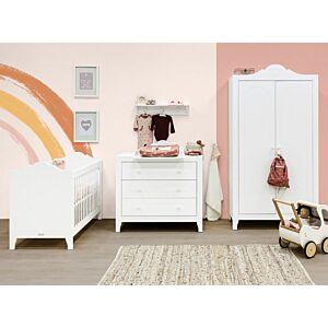 Babykamer Bopita Evi (2-deurs) incl. Matras en Wandrek