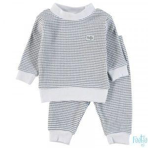 Pyjama Mini Feetje Wafel Navy 92 t/m 104