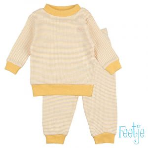 Pyjama Mini Feetje Wafel Yellow