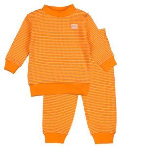 Pyjama Mini Feetje Wafel Oranje 92 t/m 104