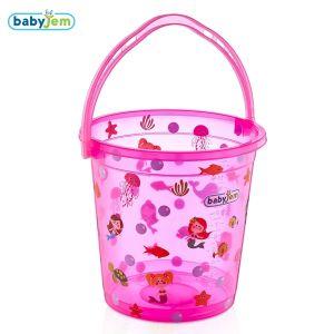 Bademmer Babyjem Transparant Fish Roze