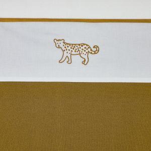 Laken Wieg Meyco Cheetah Animal 413072 Honey Gold