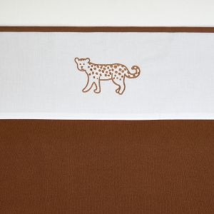 Laken Ledikant Meyco Cheetah Animal 414073 Camel