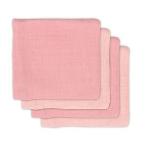 Multidoek Jollein Hydrofiel 4st Bamboe Pale Pink