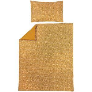 Dekbedovertrek + Kussensloop Meyco 120x150 cm 436012 Cheetah /Honey Gold