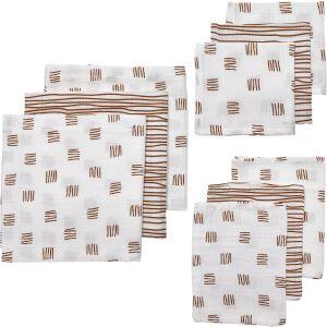 Starterset Hydrofiel 9-dlg Meyco Block Stripe 450322 Camel