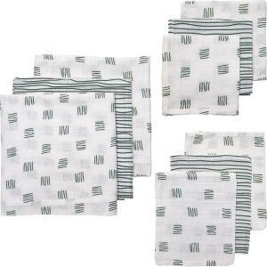 Starterset Hydrofiel 9-dlg Meyco Block Stripe 450323 Forest Green