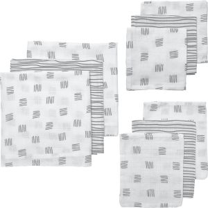 Starterset Hydrofiel 9-dlg Meyco Block Stripe 450328 Grijs