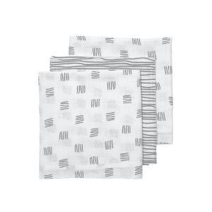 Hydrofiele luier Meyco Block 452028 grijs 3-pack