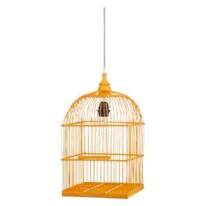 Hanglamp KidsDepot Birdy Bamboo Geel