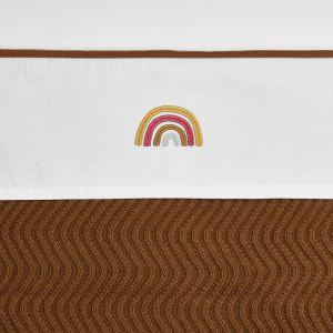 Laken Meyco Wieg 75x100 Rainbow Camel