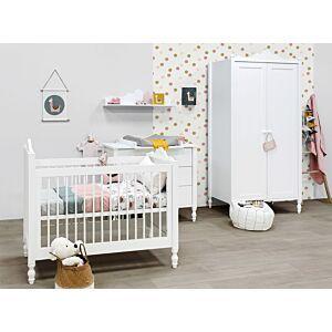 Babykamer Bopita Belle Wit (2-deurs) incl. Matras en Wandrek