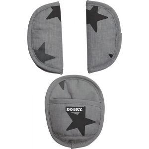 Dooky Gordelbeschermers Seat Pads Universeel Grey Stars