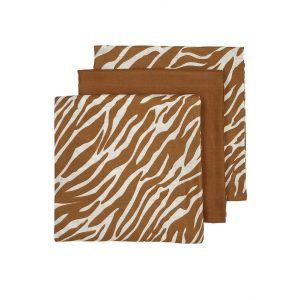 Hydrofiele luier Meyco Zebra Camel 3-pack
