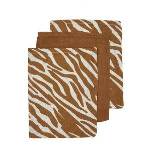 Washandjes Hydrofiel Meyco Zebra Camel 3st