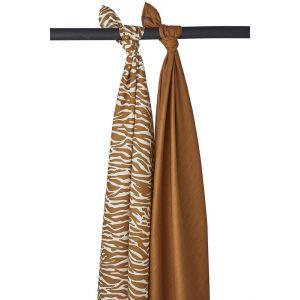 Swaddle doek Meyco Zebra Camel 2-pack