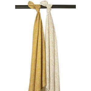 Swaddle doek 2st. Meyco Cheetah 451037 honey gold