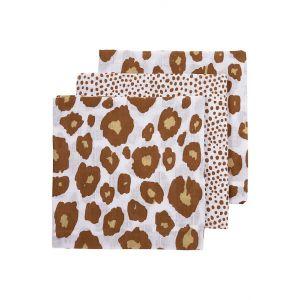 Hydrofiele Luier Meyco Panter/Cheetah Camel (3st)