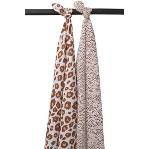 Swaddle Doek Meyco Panter/Cheetah Camel (2st)