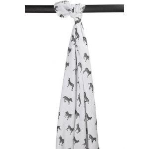 Swaddle Doek XL Meyco Zebra Animal Black/White (1st)