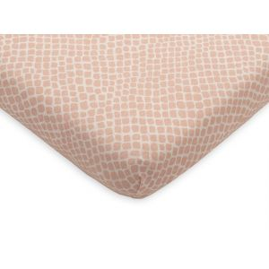 Hoeslaken Wieg Jollein 40x80 Jersey Snake Pale Pink