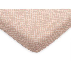 Hoeslaken Ledikant Jollein 60x120 Jersey Snake Pale Pink