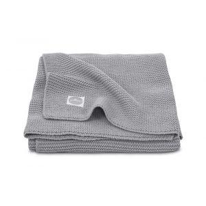 Deken Wieg Jollein 75x100 Basic Knit Stone Grey