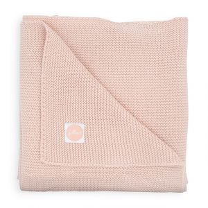 Deken Ledikant Jollein 100x150 Basic Knit Pale Pink