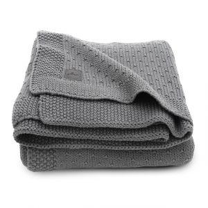 Deken Wieg Jollein 75x100 Bliss Knit Storm Grey