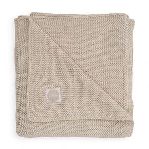 Deken Ledikant Jollein 100x150 Basic Knit Nougat